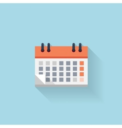 Flat web internet icon Calendar Date and time vector image
