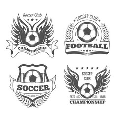 football and soccer isolated icons team logo or vector image