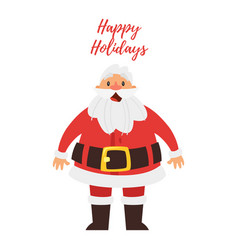 greeting card with santa claus vector image