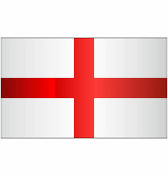 grunge flag of england vector image