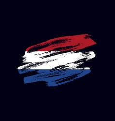 Grunge textured dutch flag vector