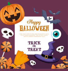 happy halloween pattern background vector image