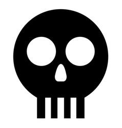 Human skull cranium icon black color flat style vector