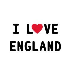 I lOVE ENGLAND1 vector image