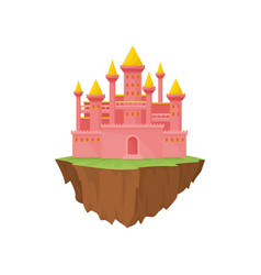 island castle on white background vector image