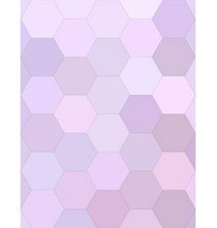 Light purple hexagonal honey comb background vector image