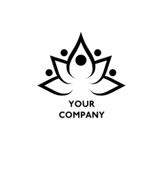Lotus symbol with text vector