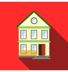 Lovely house icon flat style vector