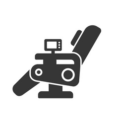 Massage chair icon vector