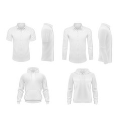 men clothes shirts and hoody isolated set vector image