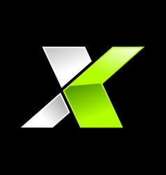 Modern initial x wordmark vector