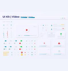 Multimedia options ui elements kit vector