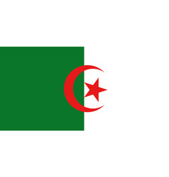 National flag algeria with official colors vector