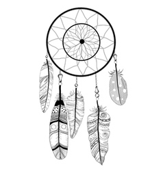 Native american indian dream catcher vector