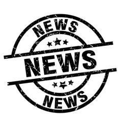 News round grunge black stamp vector