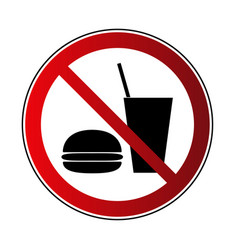 No food no drink sign vector