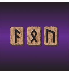 Norwegian rune icons set of three pieces vector