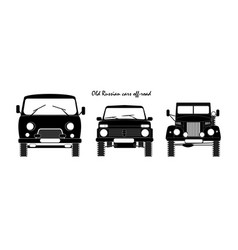 old russian cars vector image