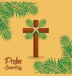 Palm sunday holy week celebration sacred vector