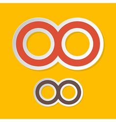 Paper Infinity Symbols on Yellow Background vector