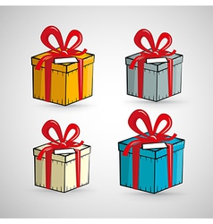 Present Boxes Isolated on White Background vector image