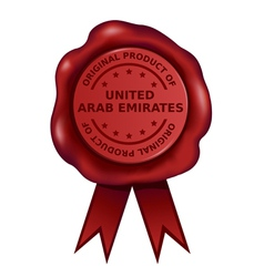 Product Of United Arab Emirates Wax Seal vector image