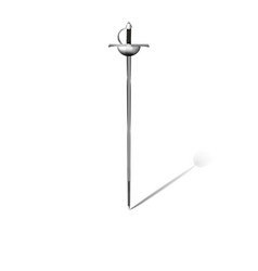 rapier sword on white background vector image