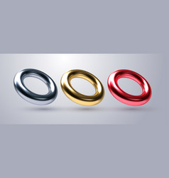 realistic torus shapes vector image