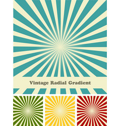 retro rays comic background raster gradient vector image