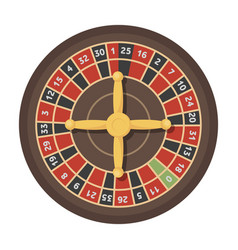 Roulette with red and black cells the most vector