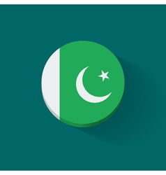 Round icon with flag of Pakistan vector image