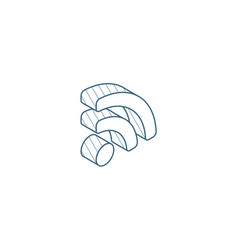 rss news isometric icon 3d line art technical vector image