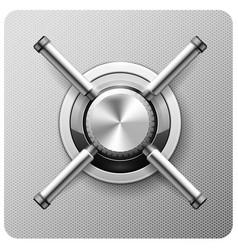Safe handle wheel - vault door strongbox vector
