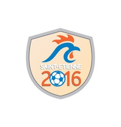 Saint Etienne 2016 Europe Championships vector image