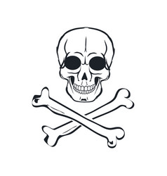 scull and crossbones sign vector image
