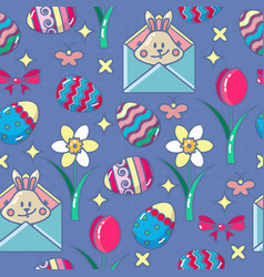 Seamless pattern with easter icon vector