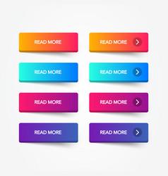 set modern trendy flat buttons vector image