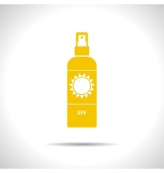 set of flat bottles vector image