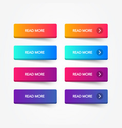 set of modern trendy flat buttons vector image