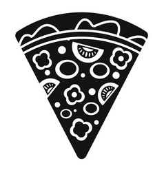 slice pepper pizza icon simple style vector image