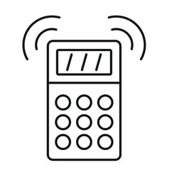smart house alarm icon outline style vector image