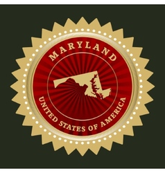 Star label Maryland vector