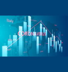 Stock market crash caused coronavirus vector