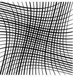 Stretch grid mesh waving wavy intersect lines vector
