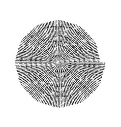 Stroke spiral stamp vector