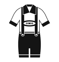 T-shirt and pants with suspenders icon vector