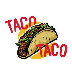 Taco logo vector