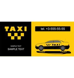 Taxi firm name card vector