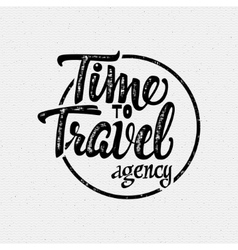 Time to travel tourist agency vector image
