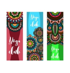 Vertical banner for yoga club vector